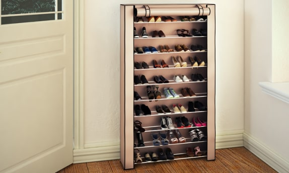 ארון נעליים לאחסון עד 50 זוגות