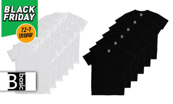 6 חולצוות 100% כותנה לגבר