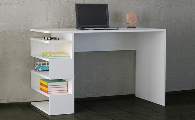 שולחן כתיבה עם מדפי צד, סנייק
