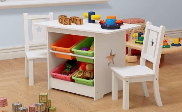 סט שולחן עם 2 כיסאות לילדים