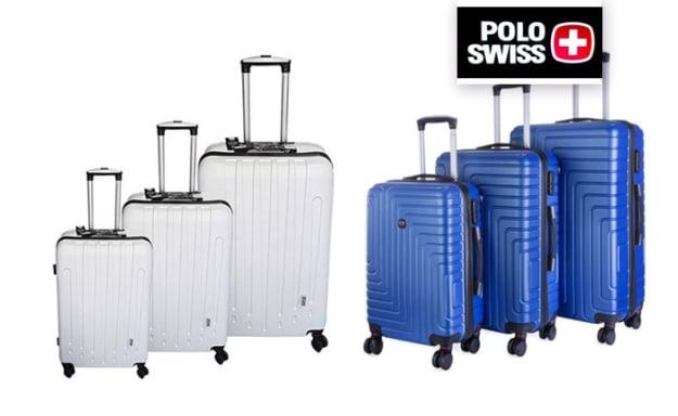 3 מזוודות POLO SWISS