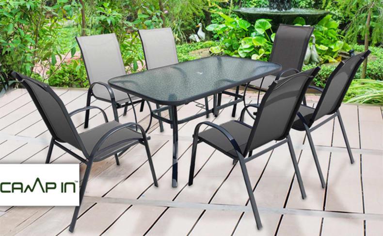 מערכת ישיבה לגינה עם 4/6 כסאות