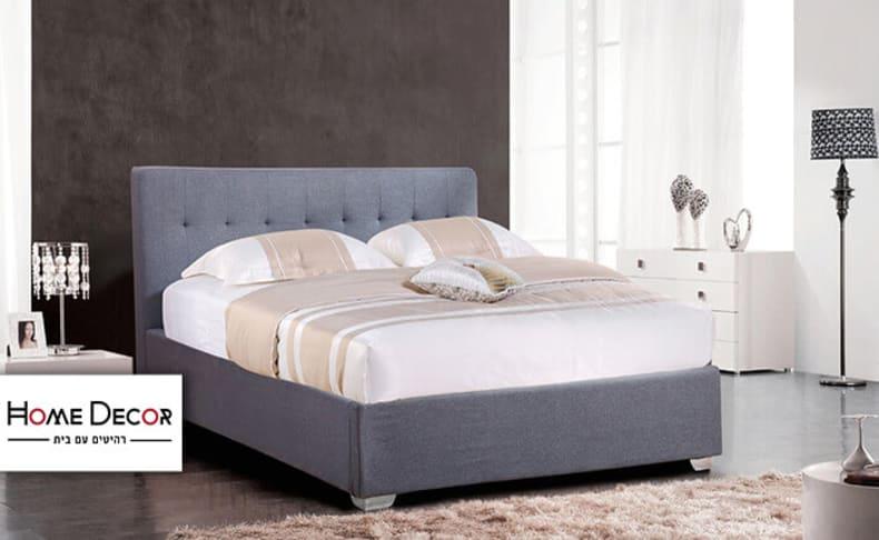 מיטה זוגית מרופדת דגם נועם