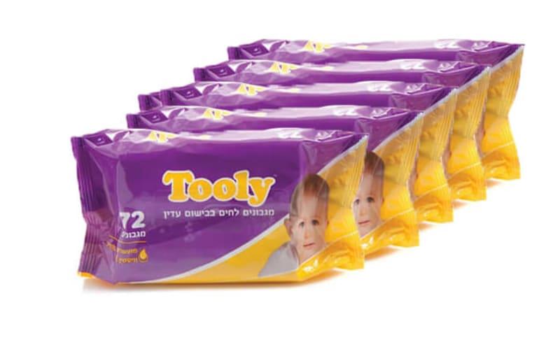24 חבילות מגבוני Tooly ומתנה