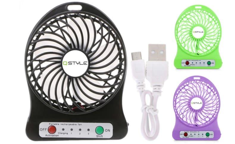 2 מאווררי USB ניידים QSTYLE