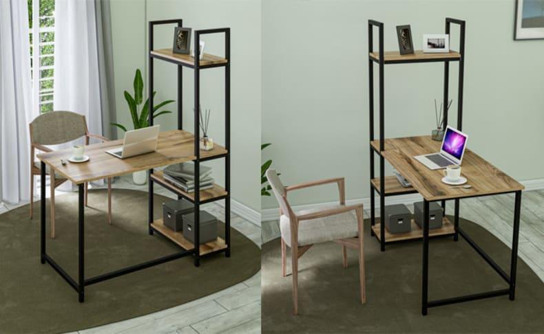 שולחן כתיבה עם מדפים דגם אבנר