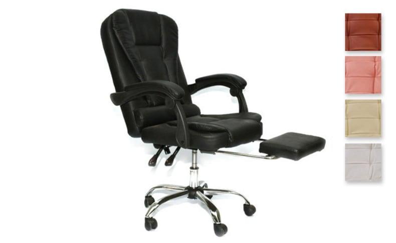 כיסא עם רטט והדום נשלף