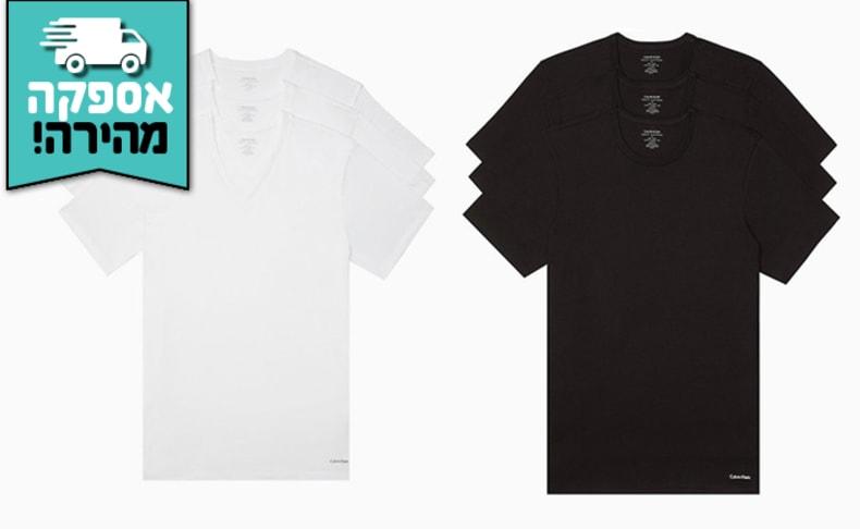 3 חולצות לגברים Calvin Klein