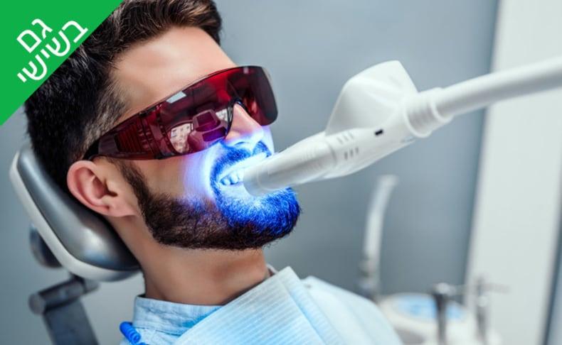 טיפול הלבנת שיניים ב-LED