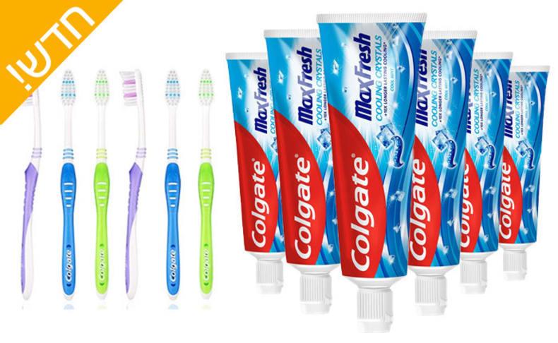 6 יחידות משחות ומברשות שיניים