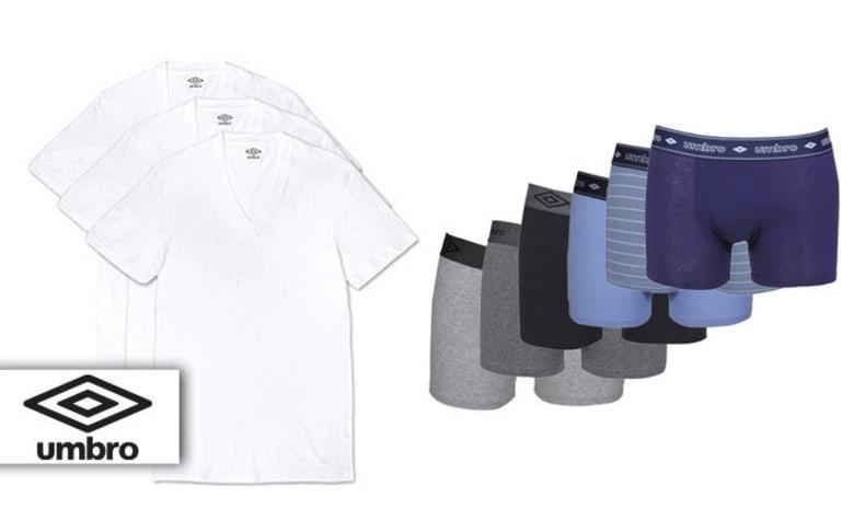 6 בוקסרים וחולצות לגבר UMBRO